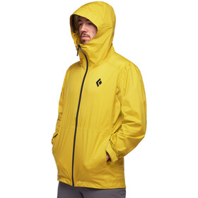 Black Diamond Stormline Chaqueta Stretch Rain Shell Hombre, sulphur